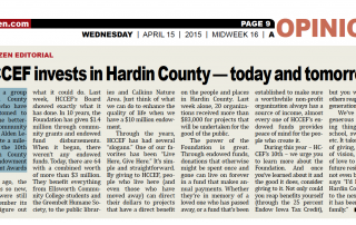 Hardin County Community Endowment Foundation in the Times Citizen